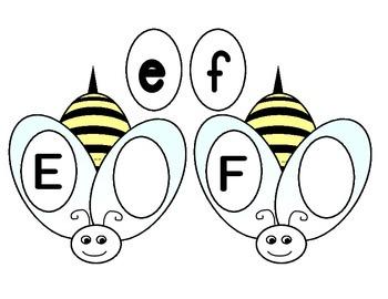 Bumble Bee Alphabet Matching Game
