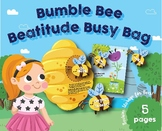 Bumble Bee Beatitude Busy Bag, Preschool, Kindergarten , home school, Bee