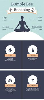 Mindful Bumble Bee Breathing Infographic