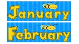 Bumble Bee Calendar Months of Year, Days of Week, Numbers