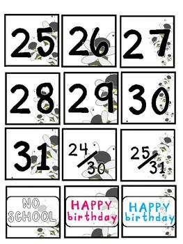 Bumble Bee Calendar Numbers