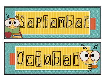Bumble Bee Calendar Set