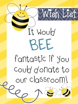 Bumble Bee Class Donations