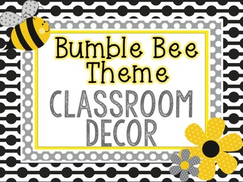 Bumble Bee Classroom Decor