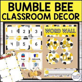Bumble Bee Editable Classroom Decor Pack