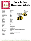 Bumble Bee Classroom Labels