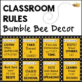 Bumble Bee Classroom Rules - Bee Classroom Decor Theme
