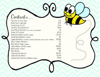 Bumble Bee Classroom Theme