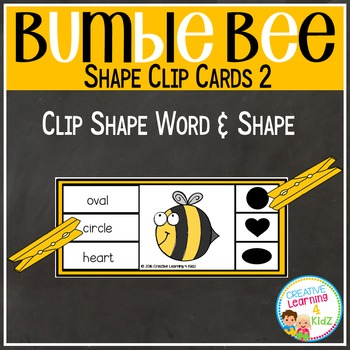 Bumble Bee Clip Cards 2