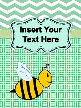 Bumble Bee Clipboard Decorative Set~Editable