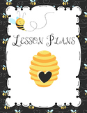 Bumble Bee Editable Teacher Lesson Planner-Binder