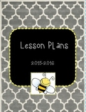 Bumble Bee Lesson Plan Binder Cover