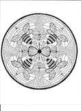 Bumble Bee Mandala Coloring Page