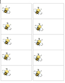 Bumble Bee Name Tags