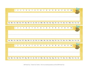 Bumble Bee Name Tags - FREE