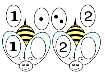 Bumble Bee Number Matching Game