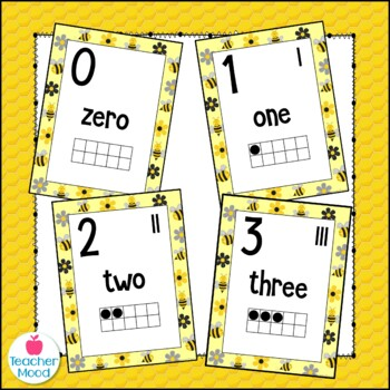 Bumble Bee Number Posters {Common Core Math}
