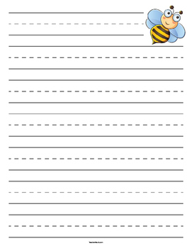 Bumble Bee Primary Lined Paper