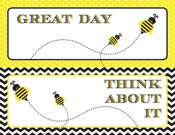 Bumble Bee Printable Behavior Clip Chart