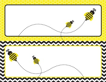 Bumble Bee Printable Blank Classroom Labels