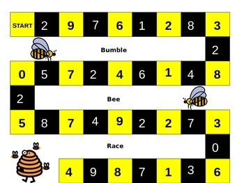 Bumble Bee Race - Ways to Make 10!!