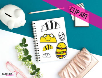 Bumble Bee Robot Clip Art