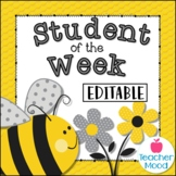Bumble Bee Student of the Week {EDITABLE} Bulletin Board Display Beehive