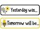 Bumble Bee Themed Classroom Calendar Cards - Morning Meeting