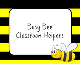 Bumble Bee Themed Classroom Jobs Bundle