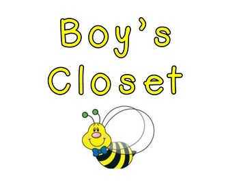 Bumble Bee Themed Closet Tags