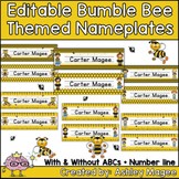 Bumble Bee Themed Nameplate/Deskplate/Nametags