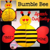 Bumble Bee Valentine's Speech Craft {language articulation craftivity} 100th Day