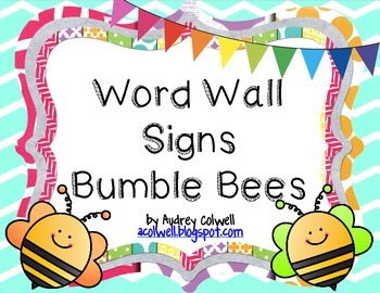 Bumble Bee Word Wall Signs