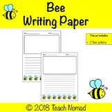 Bumble Bee Writing Paper