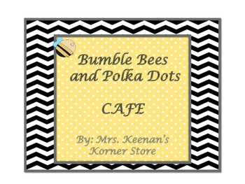 Bumble Bee and Polka Dots CAFE Sign