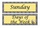 Bumble Bee and Polka Dots theme Calendar Set