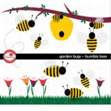 Garden Bug Bumble Bees Clipart by Poppydreamz