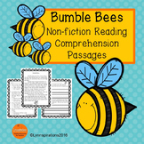 Spring Activities - Bumble Bees Reading Comprehension