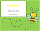 BumbleBee Classroom Door Sign - Editable