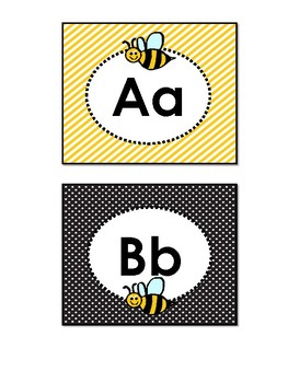 Alphabet Cards-Bee Themed