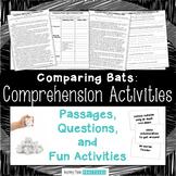 Bumblebee Bats & Vampire Bats Reading Comprehension Activities - Paired Passages