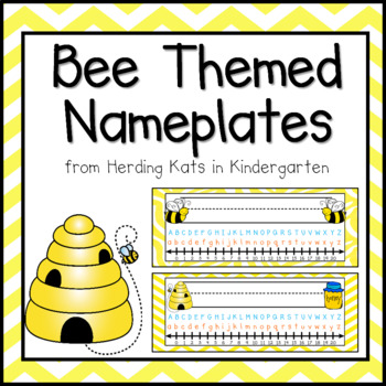 Bumblebee Bee Themed Nameplates