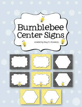 Bumblebee Center Signs