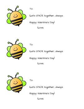 Bumblebee Chapstick Valentines