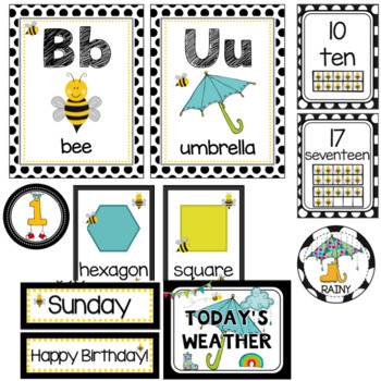 Bee Theme- Class Decor