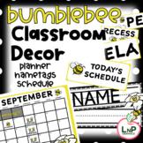 Bumblebee Classroom Theme - Teacher Planner Calendar, Sche