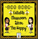 Classroom Decor Bumblebee Decor-Editable