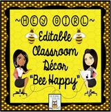 Classroom Decor Bumblebee Decor-Editable