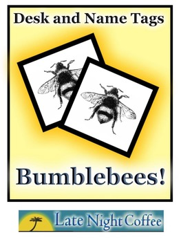 Bumblebee Desk Tags and Name Tags