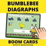 Bumblebee Diagraphs BOOM Cards (distance learning)